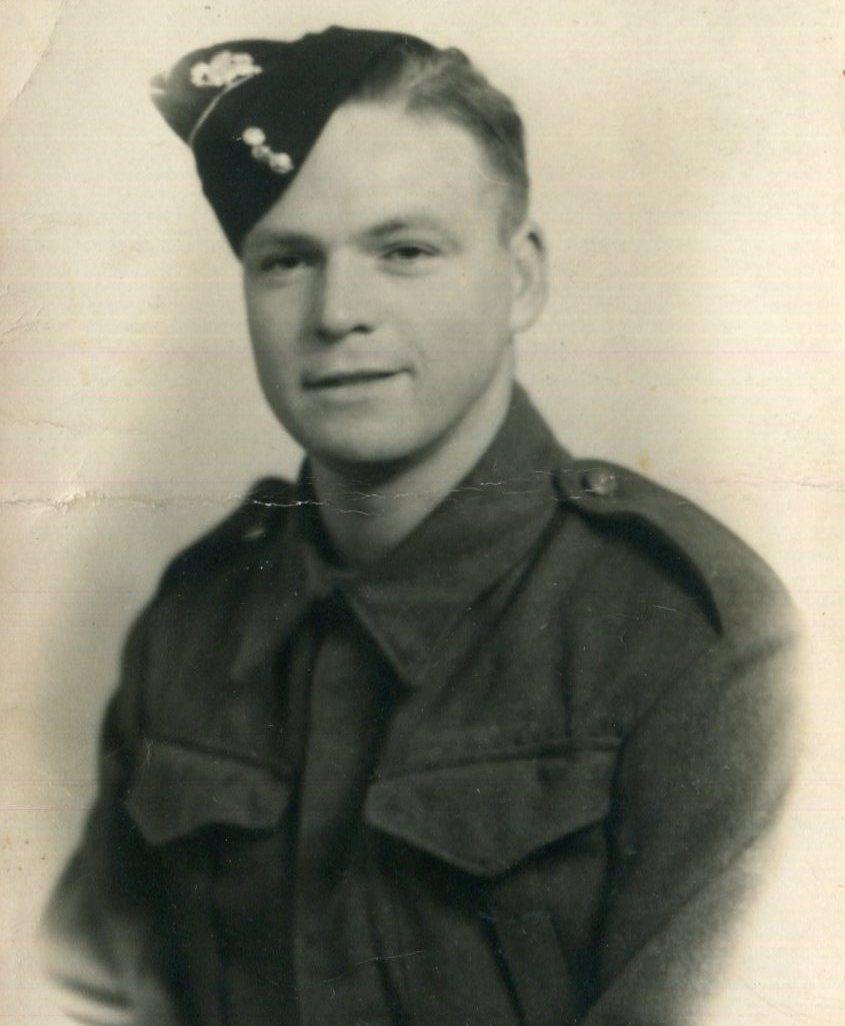 Sydney Aldridge in uniform, taken whilst with the Somerset Light Infantry in 1943
