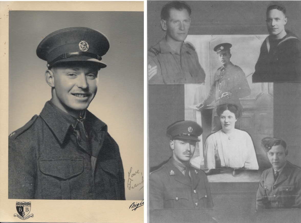 Pictured left Frank Tett and right Frank's parents (Frank and Clara) in the centre and their four sons: William Arthur John (Jack), Francis Henry (my dad), Frank and Reginald Cyril. My grandmother was widowed in 1937, as a result of her husband Frank, who was invalided out of the army in 1915, being gassed in Gallipoli.